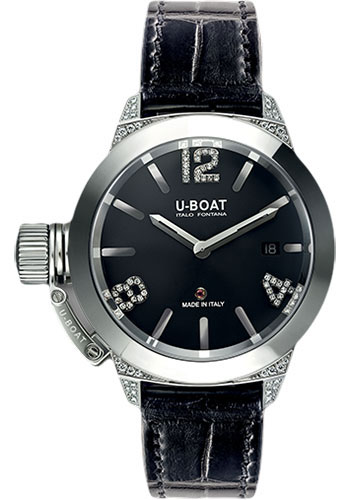 U-Boat Watches - Classico 40mm - SS White Diamonds - Style No: 6950