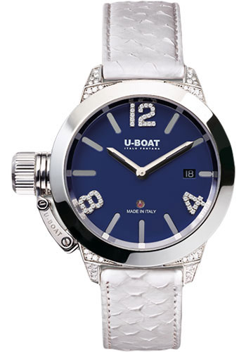 U-Boat Watches - Classico 40mm - Blue Dial Diamond - Style No: 7077