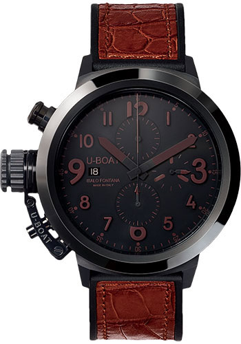 U-Boat Watches - Flightdeck 50mm - Black Ceramic - Style No: 7094