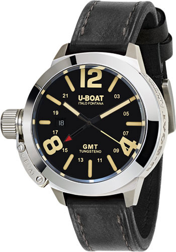 U-Boat Watches - Classico 45mm - Black GMT - Style No: 8050