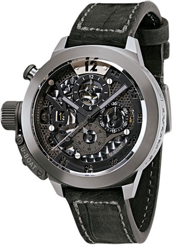 U-Boat Watches - Classico 45mm - Titanium Tungsten 48mm - Skeleton - Style No: 8060