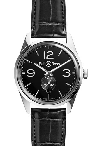 Bell & Ross Watches - Vintage BR 123 Automatic Officer - Style No: BRV 123 Officer Black Alligator