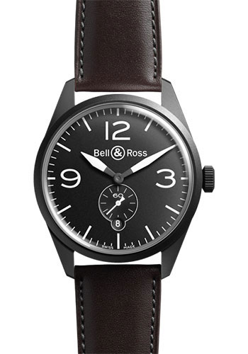Bell & Ross Watches - Vintage BR 123 Automatic Original Carbon - Style No: BRV 123 Original Black Carbon