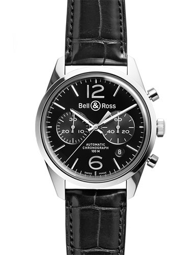 Bell & Ross Watches - Vintage BR 126 Chronograph Officer - Style No: BRG126-BL-ST/SCR/2