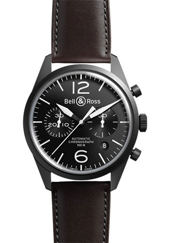 Bell & Ross Watches - Vintage BR 126 Chronograph Original Carbon - Style No: BRV 126 Original Black Carbon